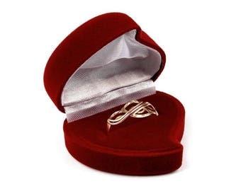 Burgundy Red Velvet jewelry case box luxury flocking