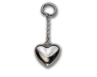 Charm pendant silver heart charm keychain