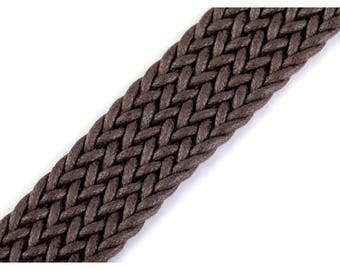 Brown 3 cm cotton woven strap