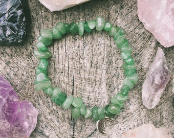 Green Adventurine Chunk Bracelet