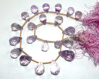 172.15 carat Pink Amethyst 12 inch Tear Drops faceted beads strand, AAA High Quality, 8x10-11x18 mm at best cost
