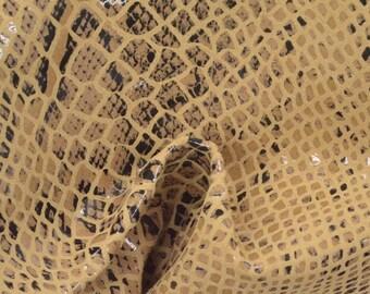 "Fashion Desert Serpent Leather Pig Hide 8"" x 10"" Project Piece 1 oz TA-56848 (Sec. 4,Shelf 7,B)"