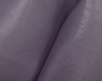 """Deep Violet Blue Leather Cow Hide 4"""" x 6"""" Pre-cut 2 1/2-3 oz smooth DE-64562 (Sec. 3,Shelf 5,A,Box 5)"""