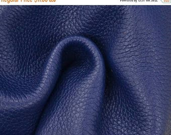 "NZ Deer Sale Blue Symphony Leather New Zealand Deer Hide 12"" x 12"" Project Piece 4 ounces TA-56573 (Sec. 5,Shelf 5,D)"
