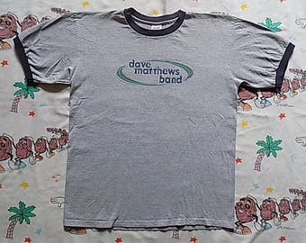 Vintage 90's Dave Matthews Band ringer T shirt, size XL DMB band tee 90's rock