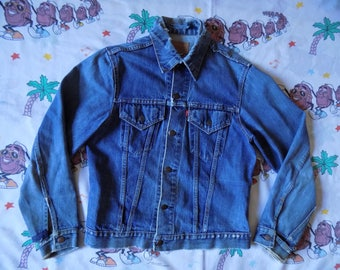 Vintage 60's Levi's Big E Denim Jacket, size Medium worn in Thrashed Type III