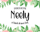 Neely - A fun casual hand drawn font