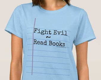 New Item! Blue Notebook Paper Graphic© T-Shirt for Ladies - Unique Gift for Teachers and Students! Fun back to school T-shirt.