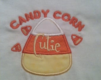 Candy Corn Cutie baby bodysuit or tshirt