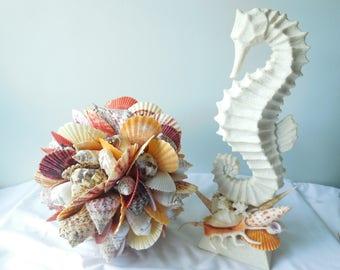 Seashell Ball-Shell Ball-Seashell Art-Decorative Ball-Seashell Sphere Ball-Nautical Coastal Decor