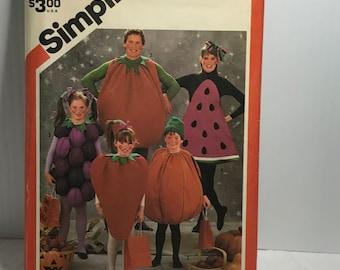 d214 Simplicity 6192, sewing pattern, costume pattern, strawberry, grape,tomato,watermelon,adult,boys,girls  uncut