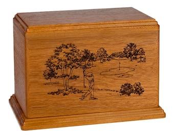 Mahogany Golf Wood Cremation Urn