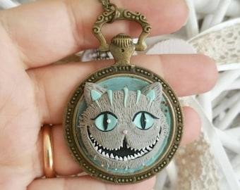 Cheshire cat fimo Clay Glow in The dark Tim Burton disney alice in wonderland