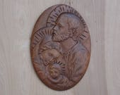 Wooden Holy Family Plaque...