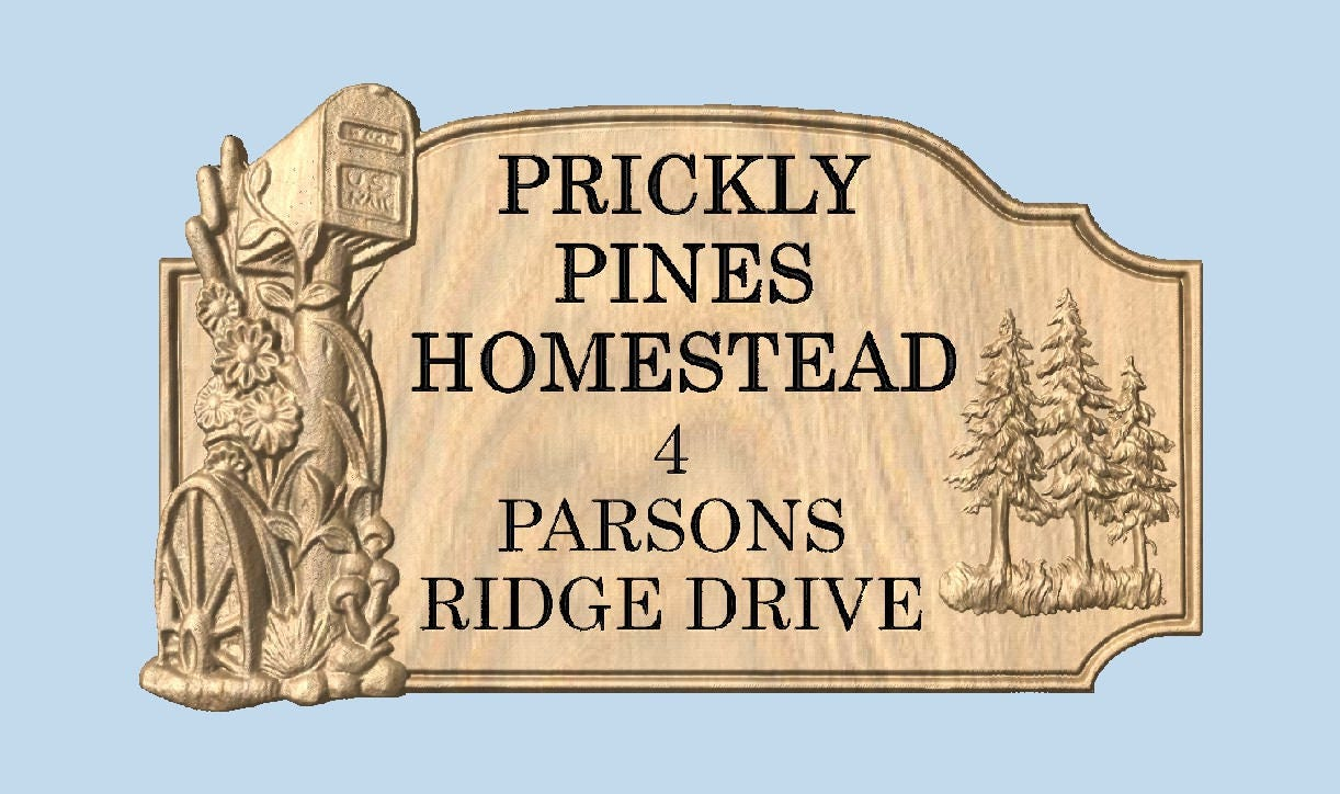 Family Name Outdoor Address Sign, Custom Yard Sign, Home Sign ...