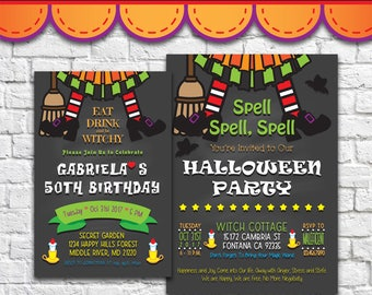 Halloween Invitation 2 - PDF JPG DOC Instant Download Printable Digital File