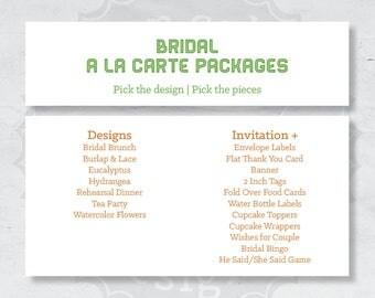 Bridal A La Carte Packages