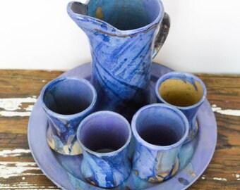Handmade Ceramic Pitcher Set