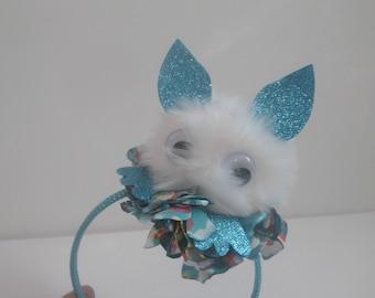 MONSTER HEADBAND, fur ball headband, girls birthday, furry monster wear, funny headband, fur ball headband, funny face headband, little girl