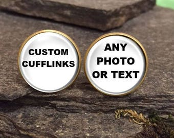 Superhero Cufflinks, Superhero Cuff Links, Personalized Cuff Links, Personalized Cufflinks, Custom Cufflinks made with you photo or message