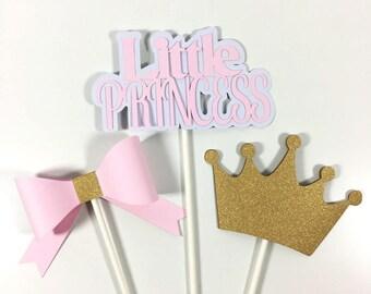 Pink U0026 Gold Little Princess Centerpiece Sticks, Princess Baby Shower  Centerpiece, Princess Birthday Centerpiece