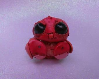 Cute Crab Creature Clay Sculpture
