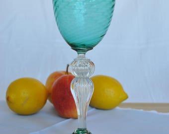 Green Murano Glass Goblet 70