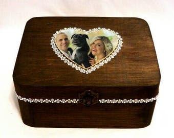 Wedding Photo Box, Personalized Picture Box, Custom Photo Jewelry Box, Picture Jewelry Box, Keepsake Box, Baby Shower Box, Memory Photo Box