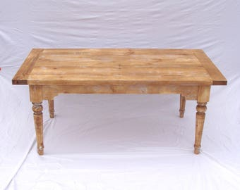 Antique Style Farm Table with Drop Leaf Extensions - ON SALE