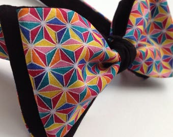 NEW Multi Faceted Geo Bow tie - Freestyle - Tie it yourself bow tie - bow tie- men's geo print bow tie - same shipping cost for 1 or more
