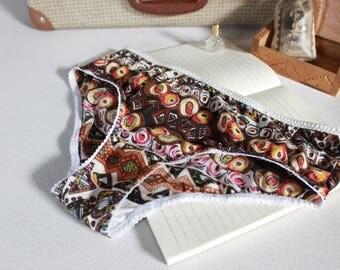 bohochic aztec panties, bohochic summer undies, aztec hippie panties