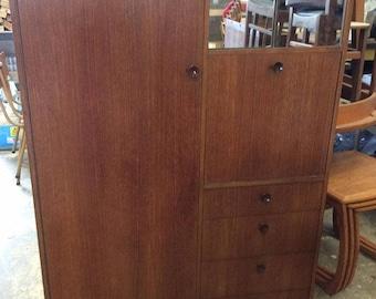 Avalon Mid Century Compact Wardrobe