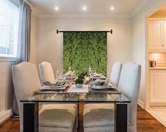 Marijuanna Art, OG Kush Cannabis Wall Art, Exotic Plant Art,Kaleidoscope Art Prints, Tropical Wall Art Fabric, Large Botanical Print
