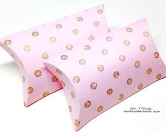Blush Pink Pillow Boxes Gold Pillow Boxes Pillow Box Favor Pillow Boxes Custom Pillow Box Small Pillow Boxes
