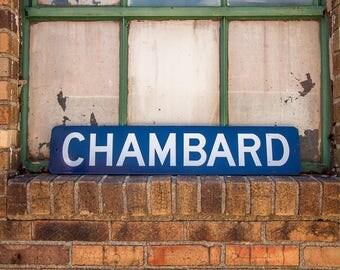 Chambard Sign Vintage Porcelain Enamel Wall Decor