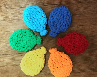 Reusable Water Balloons, Eco-Friendly Water Balloons, Water Toys, Summer Toys, Toddler Gift, Rainbow Water Balloons, Crochet Water Balloon
