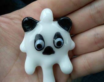 Melting Panda Glass Pendant