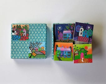 memory game funky houses matching game