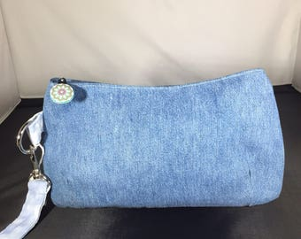 Swoon Coraline Denim Clutch