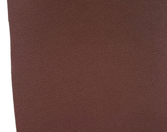 Chocolate Brown Leatherette Sheet Thin 0.8mm  A4 or  A5 Size Brown Faux Leather Fabric  Small Lychee Pattern PU Leather Thin Leatherette