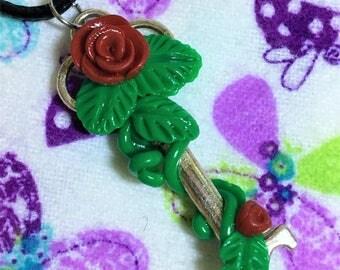Rose Vine Key Necklace