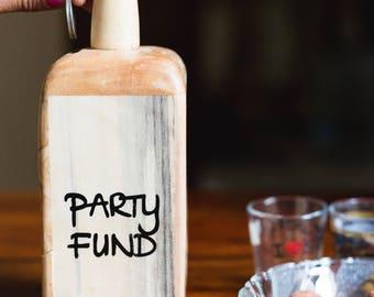 IVEI Wooden bottle shaped party fund piggy bank - orange