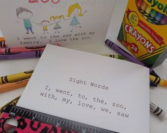 I Love the Zoo, Sight Word Book, Literacy Center, Educational Activity, Home School, Teacher, School Supplies, Preschool Learning, Drawing