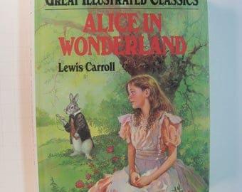 Alice in Wonderland, Lewis Carroll,  1st Edition thus, Good Plus 1977 Illustrated Hardcover (DJ/NA)