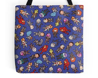 Mass Effect Pattern ~ Andromeda ~ Polyester Premium Tote Bag