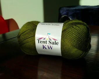 Ready to ship! Green worsted weight yarn craft supplies