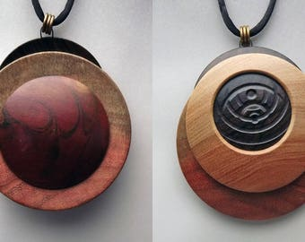 Two-Sided Lathe-Turned Necklace