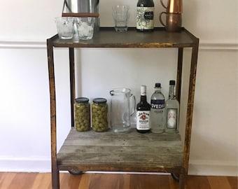 Vintage Industrial Bar Cart