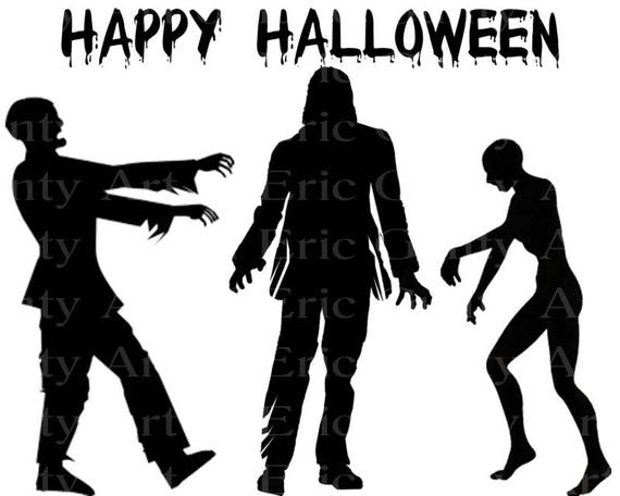Happy Halloween Zombies Birthday - Edible Cake and Cupcake Topper For Birthday's and Parties! - D22640