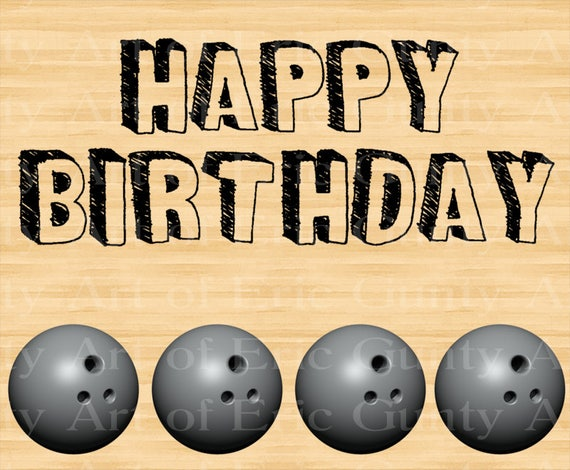 Bowling Balls Lane Birthday - Edible Cake and Cupcake Topper For Birthday's and Parties! - D22671